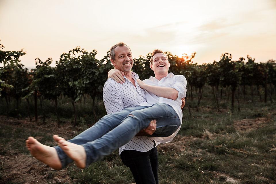 Weingut Ernst Semmler - Familie im Weingarten